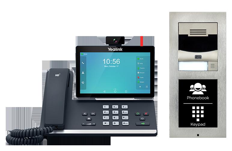 Phone intercom with keypad