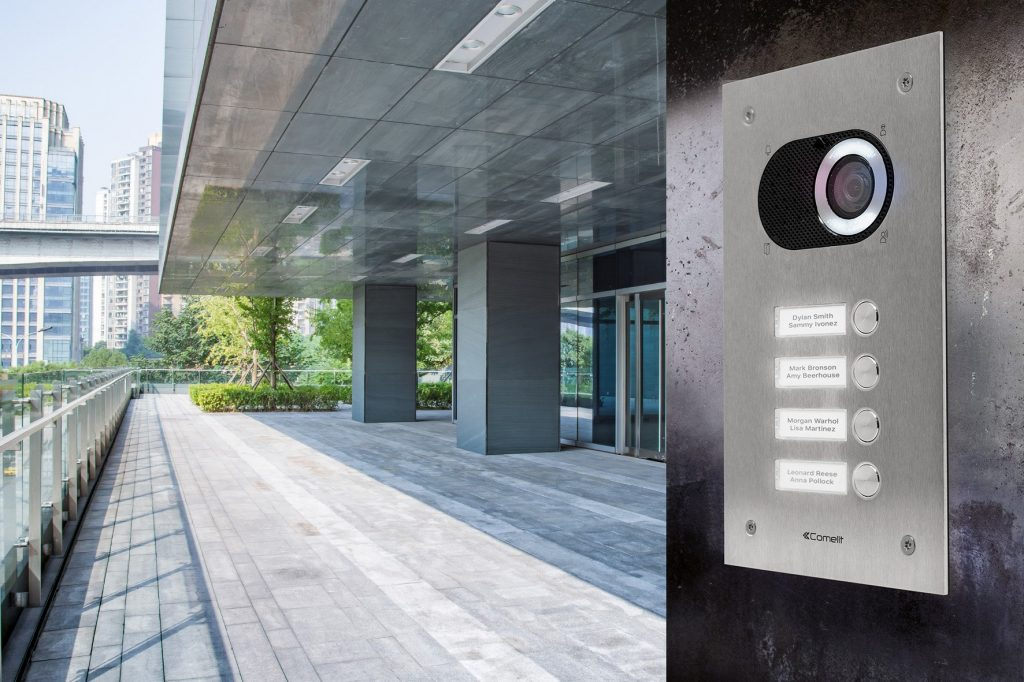 Comelit intercom installed to modern building