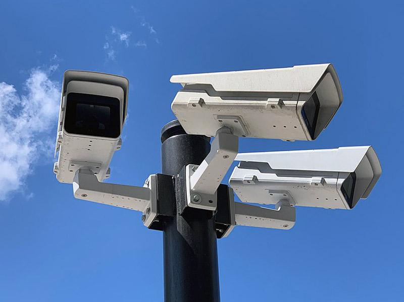 The box style CCTV on pole